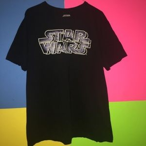 Star Wars Logo T-shirt Preowned XL Unisex